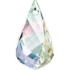 Swarovski Drop 6020 Helix 37mm Aurora Borealis Crystal